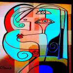 """Abstract Woman"" by cbaumsart"