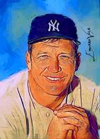 Mickey Mantle #21 Art by Edward Vela