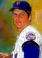 Tom Seaver #8 Art by Edward Vela