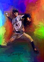 Tom Seaver #9 Art by Edward Vela