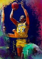 Elgin Baylor Art by Edward Vela