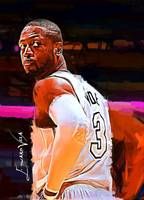 Dwyane Wade #2 Art by Edward Vela