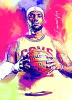 LeBron James #11 Wall Art
