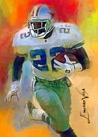 Emmitt Smith #7 Art by Edward Vela