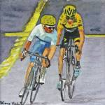 """Quintana vs Froome on Climb"" by DianaNadalFineArt"