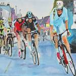 """Nibali breaks away to win Stage 2"" by DianaNadalFineArt"