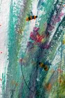 Abstract Bee Green Intuitive Art