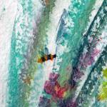 """Abstract Bee Green 2 Watercolor"" by GinetteCallaway"
