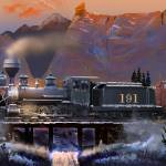 """DL&G Winter on the Colorado Narrow Gauge 1898"" by ColoradoArt"