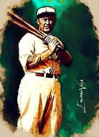 Ty Cobb  #15 Art by Edward Vela