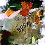 """Ted Williams #16 Art by Edward Vela"" by artofvela"