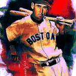 """Ted Williams #17 Art by Edward Vela"" by artofvela"