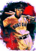 Ted Williams #17 Art by Edward Vela
