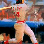 """Pete Rose #8 Art by Edward Vela"" by artofvela"