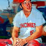 """Johnny Bench #5 Art by Edward Vela"" by artofvela"