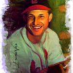 """Stan Musial #17 Art by Edward Vela"" by artofvela"