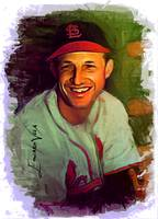 Stan Musial #17 Art by Edward Vela