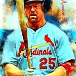 """Mark McGwire #3 Art by Edward Vela"" by artofvela"