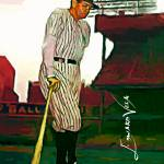 """Babe Ruth #17 Art by Edward Vela"" by artofvela"