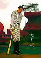 Babe Ruth #17 Art by Edward Vela