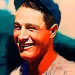 """""""Lou Gehrig #12 Art by Edward Vela"""" by artofvela"""
