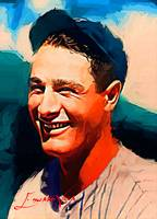 Lou Gehrig #12 Art by Edward Vela