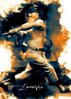 Mickey Mantle #22 Art by Edward Vela