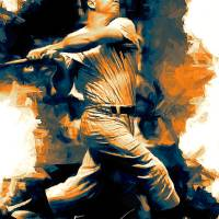 """Mickey Mantle 22 Art by Edward Vela"" by artofvela"