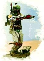 Boba Fett #6 Art by Edward Vela