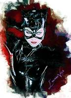 Catwoman Art by Edward Vela