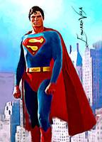 Christopher Reeve Superman #3 Art by Edward Vela