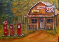 Rural Vintage Gas Station