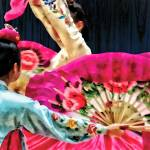 """Traditional Korean Fan Dance"" by susansartgallery"