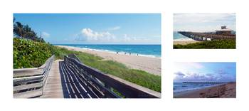 Juno Beach Florida Seascape Collage 3