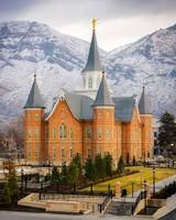 Provo City Center Temple - Snowy Mountains