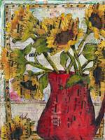 Sunflower print | Beethoven Bouquet | mixed media