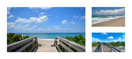 Juno Beach Florida Seascape Collage 4