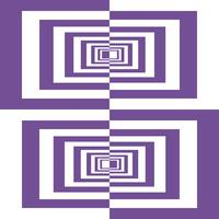 Purple And White Geometric Rectangles