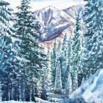 """Winter Forest And Mountains"" by IrinaSztukowski"