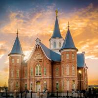 """Provo City Center Temple Golden Sunset"" by KennyLatimerPhotography"