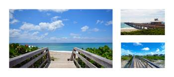 Juno Beach Pier Florida Seascape Collage 5