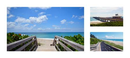Juno Beach Pier Florida Seascape Collage 6