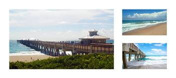 Juno Beach Pier Florida Seascape Collage 7