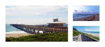 Juno Beach Pier Florida Seascape Collage 8