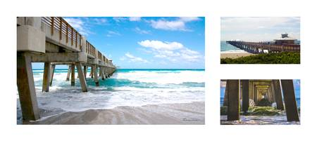 Juno Beach Pier Florida Seascape Collage 9