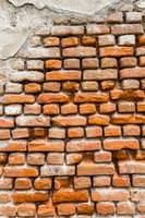 A closer look to a brick wall