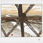 """Eiffel Tower View_F_51X42"" by Morganhowarth"