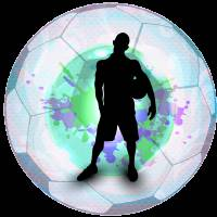 Soccer Player Posing with Ball Soccer Background Art Prints & Posters by Elaine Plesser