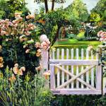 """ROSES AT THE GARDEN GATE"" by DavidLloydGlover"