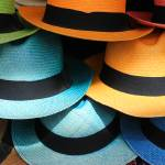 """Colorful Panama Hats"" by rhamm"